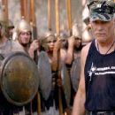 Captain Dale Dye trains the actors who portray Alexander's Macedonian troops. - 276 x 180