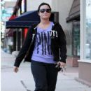 Demi Lovato looking bigger than usual - Out and About in Los Angeles (April 19)