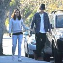 Mila Kunis and Ashton Kutcher – Out for a walk in Los Angeles - 454 x 363