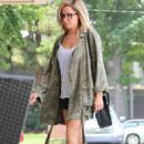 Ashley Tisdale Going To A Nail Salon In Studio City