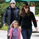 Jennifer Garner and Ben Affleck taking Seraphina to breakfast in Santa Monica (October 25)