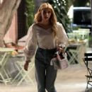 Emma Roberts – With a new hairstyle in West Hollywood