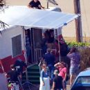 "Ashley Greene on the set of ""Wish I was Here"" (August 5)"