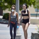 Jayde Nicole in Tiny Shorts – Hiking with a female friend in the Hollywood Hills