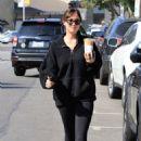 Dakota Johnson at Alfred's coffee in Los Angeles