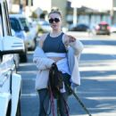 Alessandra Torresani – Walking her dogs in Los Angeles - 454 x 648