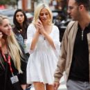 Pixie Lott – In white dress out in London - 454 x 743
