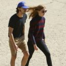 Shia LaBeouf and his new wife, Mia Goth, spend the day at the dog park in Studio City, California on October 15, 2016 - 454 x 592