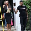 Alice Goodwin in Black Ttight Dress – Eexits 'Celebs Go Dating' with Jermaine Pennant in London - 454 x 614