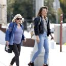 Milla Jojovich with her mother Galina Loginova in West Hollywood - 454 x 530