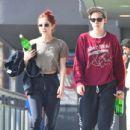 Kristen Stewart and Sara Dinkin – Leaving a gym in Hollywood - 454 x 434