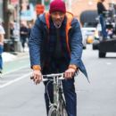 Will Smith on location filming an intense scene for 'Collateral Beauty' in New York City on March 31, 2016
