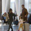 Rachel Bilson and Hayden Christensen at Toronto International Airport