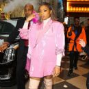 Jennifer Hudson in Pink Blazer – Out in NYC