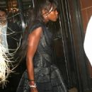 Naomi Campbell Leaving Cipriani Restaurant In London, September 11 2007