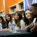 The cast of Victorious stopped by the Duke Ellington School of the Arts today, September 23, in Washington, D.C