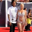 Amber Rose and Wiz Khalifa attend the 2014 MTV Video Music Awards at The Forum in Inglewood, California - August 24, 2014 - 410 x 594