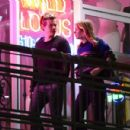 Harry Styles and Camille Rowe leaving a restaurant in Los Angeles - 454 x 431