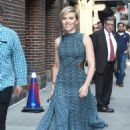 Scarlett Johansson At The Late Show With Stephen Colbert' TV show in New York City