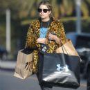 Ashley Benson in Animal Print Jacket – Shopping in Beverly Hills