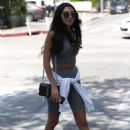 Chantel Jeffries out for lunch at Urth Caffe in West Hollywood