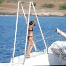 Abbey Clancy – Swimwear Photoshoot For 'Britain's Next Top Model' on Yacht in Cape Verde - 454 x 484