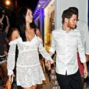 Adriana Lima and new boyfriend Metin Hara at the Memedof Fish Restaurant in Bodrum