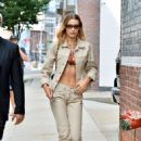 Bella Hadid – rocks a matching denim outfit in NYC