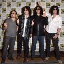 Kiss attends the Scooby-Doo! and Kiss: Rock and Roll Mystery Press Room during Comic-Con International 2015 at the at Hilton Bayfront on July 9, 2015 in San Diego, California. - 454 x 341