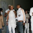 Amber Rose and Chris Brown at the White Party After Party at Guys and Dolls Lounge in Los Angeles, California - July 4, 2009 - 454 x 644