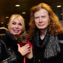 Dave Mustaine and Pamela Casselberry attend the GRAMMY Gift Lounge during the 60th Annual GRAMMY Awards at Madison Square Garden on January 27, 2018 in New York City - 454 x 340