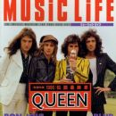 Roger Taylor, John Deacon, Freddie Mercury, Brian May - Music Life Magazine Cover [Japan] (November 1995)