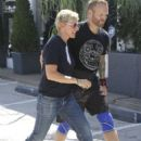 Ellen DeGeneres stops by a studio in West Hollywood, California on September 3, 2014
