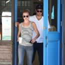 Emily VanCamp: leaving Beachwood Cafe after picking up coffee in Los Angeles