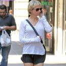 Renee Zellweger Walking In NYC Short Shorts, June 30, 2010