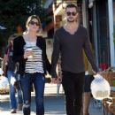Ashley Greene and her boyfriend Paul Khoury spotted out getting lunch at the Romancing The Bean Cafe in Burbank, California on December 14, 2013