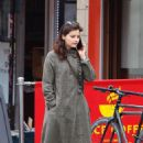 Jenna Coleman – Talking on her phone in London