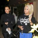 Blac Chyna, Kim Kardshian, and Larsa Pippen Attend a Pole Dancing Class in Los Angeles - February 7, 2014