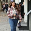 Kelly Brook – Arrives at Heart Radio show in London