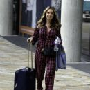 Claire Sweeney – Leaving BBC Breakfast Studios in Manchester - 454 x 549