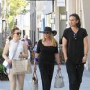 Shannon Tweed enjoys lunch with Sophie Simmons and Nick Simmons in Beverly Hills