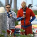 Dwayne Johnson- March 7, 2016-Stars on the Set of 'Baywatch
