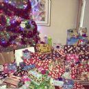 Amber Rose, Wiz Khalifa, and baby Sebastian Celebrate Christmas at their home in Los Angeles, California - December 25, 2013