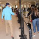 Gaby Espino at LMM airport in San Juan - 454 x 406