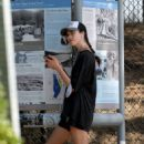 Margaret Qualley – Out for jogging in Los Angeles - 454 x 583