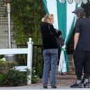 Jaime King – With her boyfriend Sennett Devermont at San Vicente Bungalows in West Hollywood - 454 x 303