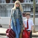 Claudia Schiffer Takes Her Son To School In London July 1, 2010