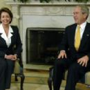 President George W Bush With Nancy Pelosi