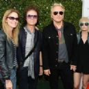 Glenn Hughes, Matt Sorum, actress Ace Harper and guest attend the John Varvatos 12th Annual Stuart House Benefit at John Varvatos on April 26, 2015 in Los Angeles, California.