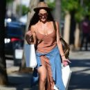 Nikki Bella in Long Dress – Out in Los Angeles